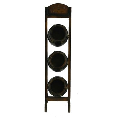 3 Tabletop Wall Mounted Wine Rack