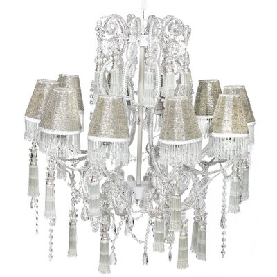 10-Light Crystal Chandelier