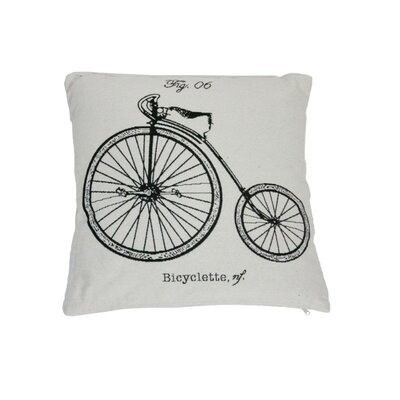 Bicyclette Throw Pillow
