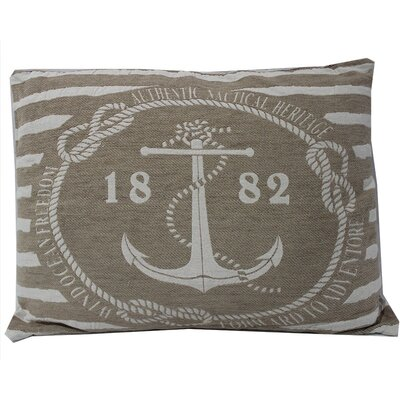 Anchor with Stripes Lumbar Pillow
