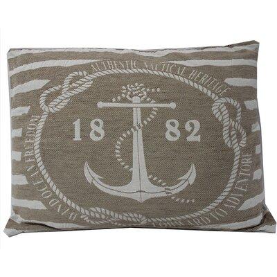 Anchor with Stripes Lumbar Pillow