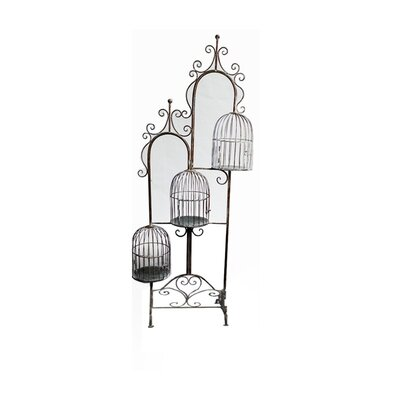 Decorative Metal Bird Cage with Stand EN28280