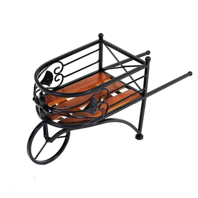 Wagon Metal Wheelbarrow Planter EN40244