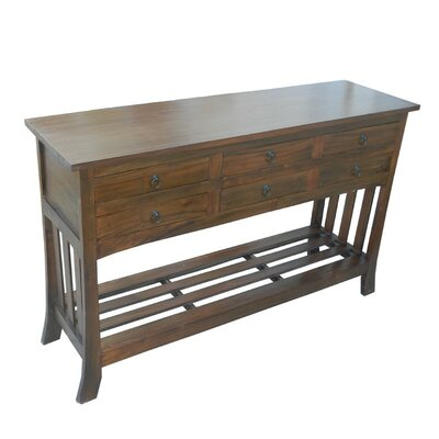 Console Table Finish: Brown