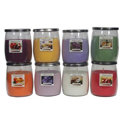 Glass Scent Jar Candle EN112003-Strawberry
