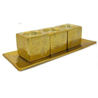 4 Piece Votive Set Color: Gold