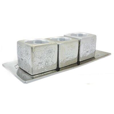 4 Piece Votive Set Color: Silver