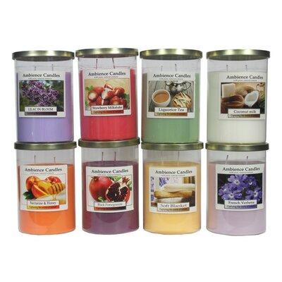 Glass Scent Jar Candle EN112000-LilacinBloom