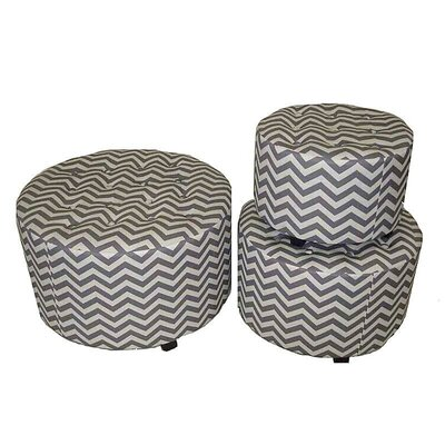 3 Piece Cocktail Ottoman Set