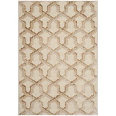 Maspeth Beige Area Rug Rug Size: Rectangle 53 x 76