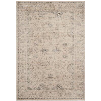 Malakoff Creame/Beige Area Rug Rug Size: Rectangle 4 x 57
