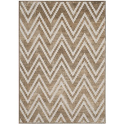 Gabbro Brown/Ivory Area Rug Rug Size: Rectangle 4 x 57