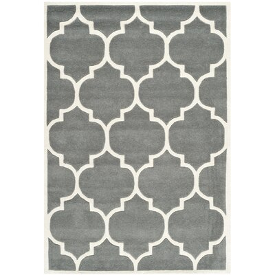 Wilkin H-Tufted Dark Gray Area Rug Rug Size: Rectangle 2 x 3