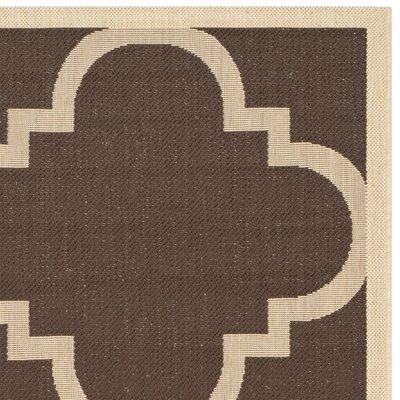 Short Dark Brown Outdoor Area Rug Rug Size: Rectangle 53 x 77