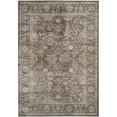 Rindge Brown/Ivory Floral Area Rug Rug Size: Rectangle 8 x 10