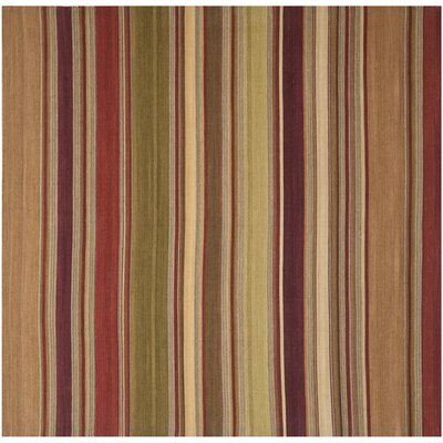Striped Kilim Hand-Woven Wool Area Rug Rug Size: Square 7