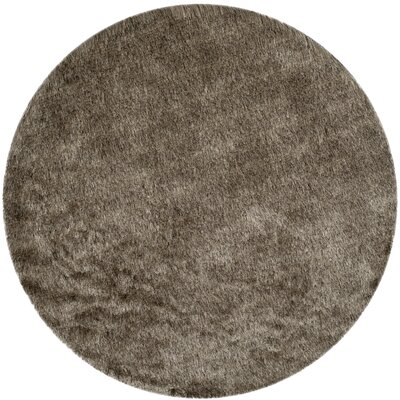 Montpelier Sable/Taupe Area Rug Rug Size: Round 5