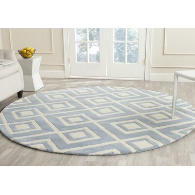 Wilkin Blue / Ivory Rug Rug Size: Rectangle 3 x 5