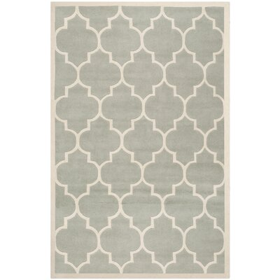 Wilkin Hand-Tufted Gray/Ivory Area Rug Rug Size: Rectangle 76 x 96