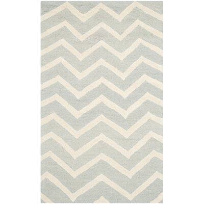 Charlenne Gray/Ivory Area Rug Rug Size: 3 x 5