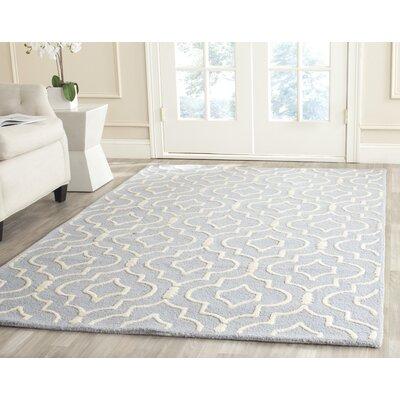 Martins Light Blue & Ivory Area Rug Rug Size: 6 x 9