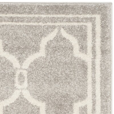 Maritza Light Gray/Ivory Indoor/Outdoor Area Rug Rug Size: Rectangle 26 x 4