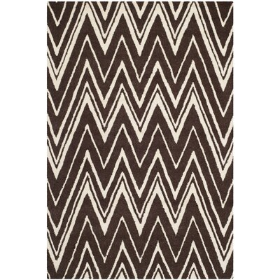 Martins Hand-Tufted Brown Area Rug Rug Size: Rectangle 4 x 6
