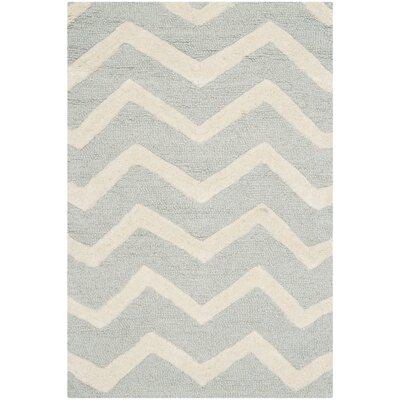 Charlenne Gray/Ivory Area Rug Rug Size: 2 x 3