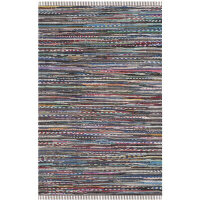 Hatteras Contemporary Hand-Woven Grey/Red/Green Area Rug Rug Size: Rectangle 4 x 6