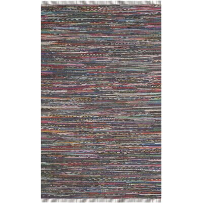 Hatteras Contemporary Hand-Woven Grey/Red/Green Area Rug Rug Size: Rectangle 6 x 9