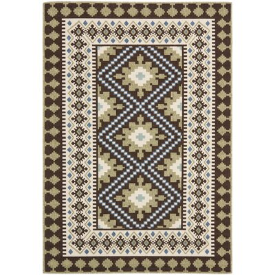 Zahr Chocolate Indoor/Outdoor Area Rug Rug Size: 67 x 96