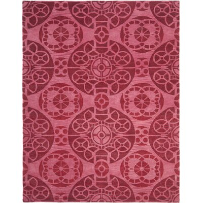 Kouerga Wool Hand-Tufted Red Area Rug Rug Size: Rectangle 8 x 10
