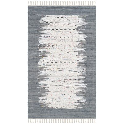 Jameson Contemporary Hand-Woven Ivory/Gray Area Rug Rug Size: Rectangle 3 x 5