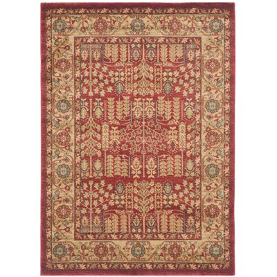 Coleraine Red Area Rug Rug Size: Rectangle 4 x 57