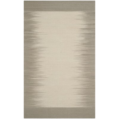 Kilim Beige / Light Green Contemporary Rug Rug Size: 4 x 6