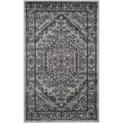 Ischua Silver/Black Area Rug Rug Size: Rectangle 3 x 5