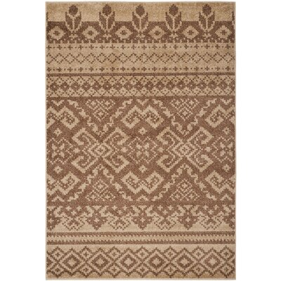 St. Ann Highlands Camel/Chocolate Area Rug Rug Size: 51 x 76