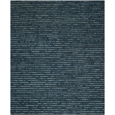 Makhi Hand-Knotted Dark Blue Area Rug Rug Size: Rectangle 6 x 9