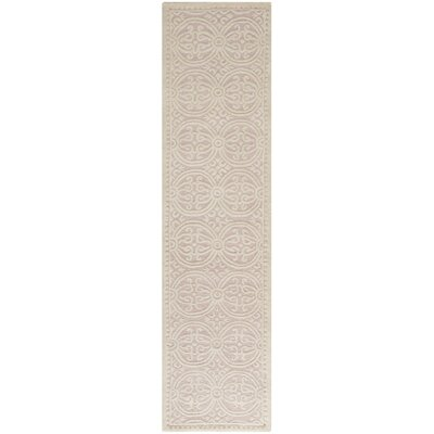 Charlenne Hand-Tufted Light Pink/Ivory Area Rug Rug Size: Runner 26 x 12
