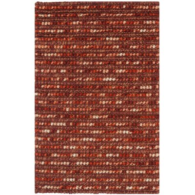 Makhi Hand-Knotted Rust Area Rug Rug Size: Rectangle 2 x 3