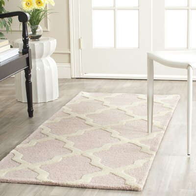 Clifford Light Pink/Ivory Area Rug Rug Size: Runner 26 x 8