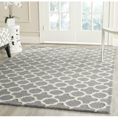 Martins Circle Silver &  Area Rug Rug Size: Rectangle 6 x 9
