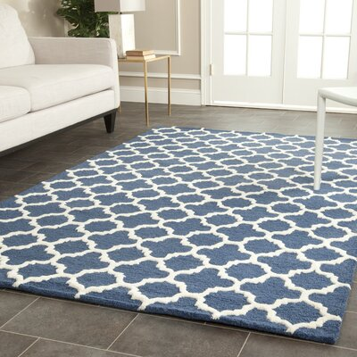 Martins Hand-Tufted Navy Area Rug Rug Size: Rectangle 6 x 9