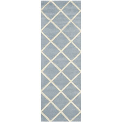 Eliza Hand-Tufted Blue/Ivory Area Rug Rug Size: Rectangle 2 x 3