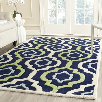 Wilkin Hand-Tufted Wool Area Rug Rug Size: Rectangle 4' x 6'