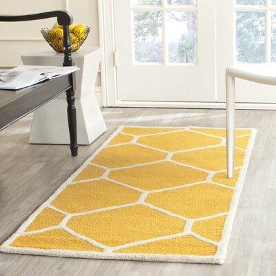 Martins Gold/Ivory Area Rug Rug Size: Rectangle 4 x 6