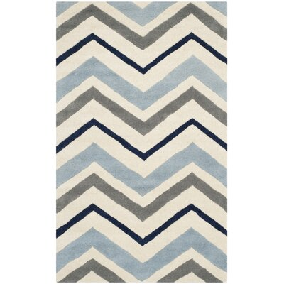 Wilkin Hand-Tufted Wool Area Rug Rug Size: Rectangle 3 x 5