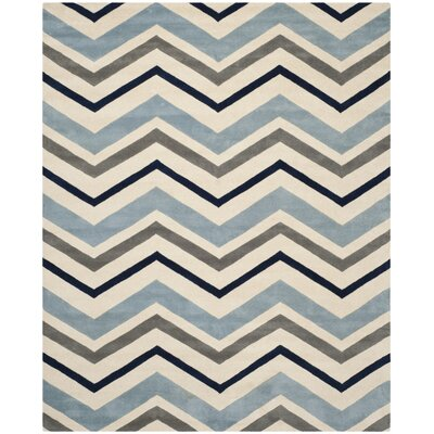 Wilkin Hand-Tufted Wool Area Rug Rug Size: Rectangle 6 x 9