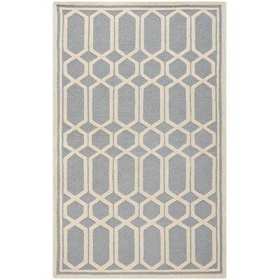 Harbin Gray / Ivory Area Rug Rug Size: 4 x 6