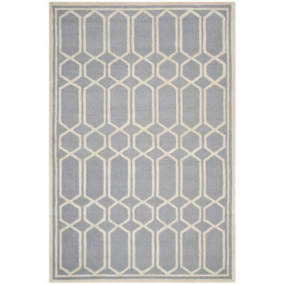 Harbin Gray / Ivory Area Rug Rug Size: 6 x 9